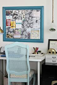 Fabric Covered Desk Chairs Fabric Covered Cork Board Organize And Decorate Everything