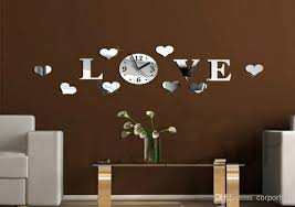mirror home decor 3d mirror wall clock home decoration diy mirror