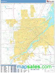 toledo ohio map toledo ohio zip code wall map basic style by marketmaps