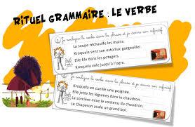 rituel grammaire le verbe et kroquela bout de gomme