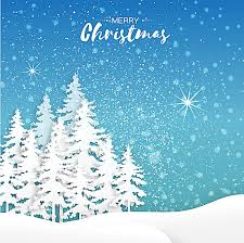 blue snow tree background material