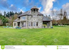 house porch side view amazing stone house with a big column porch royalty free stock