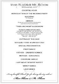wedding reception program sle awesome program for wedding reception contemporary styles