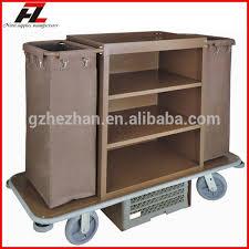 femme de chambre chaude chine vente chaude métal hôtel ménage chariot en brun
