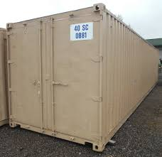 five 40 ft steel sea containers cargo boxes shipping