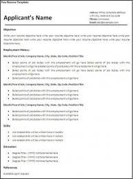 resume templates for word free 6 free resume templates word excel pdf templates
