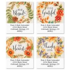 thanksgiving address labels colorful images