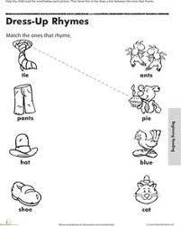 time to rhyme matching rhymes 2 worksheets writing worksheets
