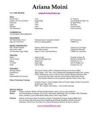 Actor Resume Template Free Acting Resume Template No Experience Http Www Resumecareer