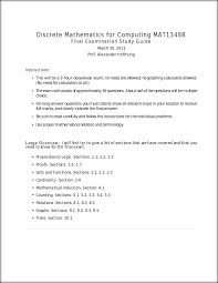 final exam study guide discrete mathematics for computing