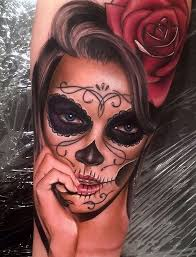 day of the dead portrait portrait tattoos