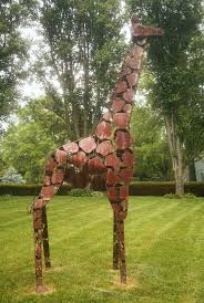 plants are the strangest lawn ornament giraffe
