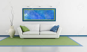 Livingroom Art Minimalist Living Room With White Sofa With Couch And Abstract