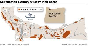 Troutdale Oregon Map by Multnomah County Wildfire Map Shows Gresham Neighborhoods At Risk