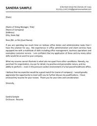 sample cover letters for healthcare jobs