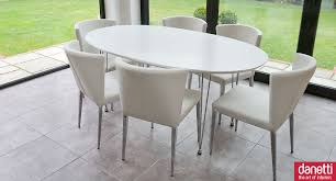 Modern White Dining Table by Nella Vetrina Robin Modern Italian Designer Oval Wood Dining Table