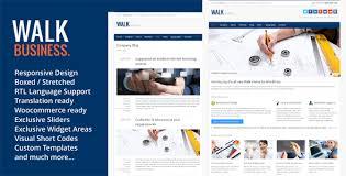 walk responsive business wordpress theme by saurabhsharma