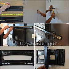 wall mounted tv hiding cables diy wall mounted television u0026 hidden cords two thirty five designs