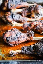 baked bbq turkey legs fed fit