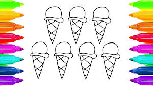 how to draw ice cream coloring pages for kids creativity for