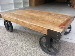 Vintage Coffee Table With Wheels New Provincial Industrial Recycled Vintage Rustic Timber