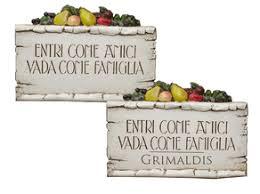 Italian Wall Decor Italian Wall Plaque Italian Signs Italian Plaques Italian Welcome