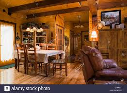 dining room inside a canadiana cottage style residential stacked