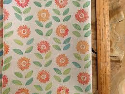 block print fabric sunflower fabric colorful block printed