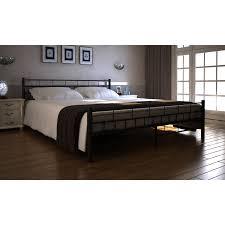 2 6 Bed Frame by Vidaxl Co Uk Metal Bed 140 X 200 Cm Black Block