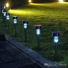 Solar Lighting For Gardens by Led Solar Lights Solar Lawn Light Plastic Garden Outdoor Sun Light