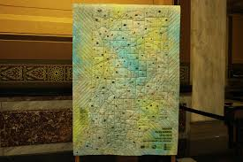 Map Quilt Bicentennial Quilt Is Unveiled And On Display Thestatehousefile