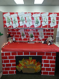my christmas cubicle decorations the stockings are made from