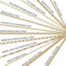 necklace chain metal types images Different brass chains types of jewelry chains pinterest jpg