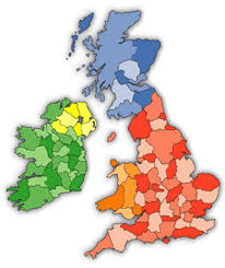 map uk ireland scotland uk map showing counties in wales scotland and northern