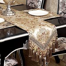 luxury damask table runner amazon com modern luxury jacquard damask floral damask table