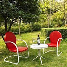 outdoor metal chairs ebay