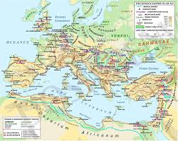 germania map ancient rome maps