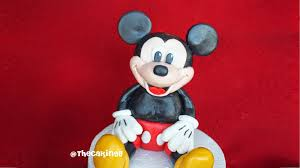 Cake Decorating Figures How To Make Thecakinggirl Mickey Mouse Figurine Tutorial Fondant Cake