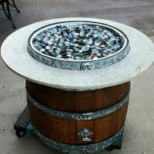 Wine Barrel Fire Pit Table by Wine Barrel Propane Fire Pits Hand Made In So Cal U2013 Winebarrelfires