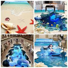 3d ocean floor designs 3d wallpaper sticker ocean wallpapers starfish dolphin stickers