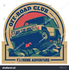 foreign sports car logos offroad car logo safari suv expedition stock vector 578403769