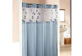 Hookless Shower Curtains Hookless Shower Curtain Snap Liner Mariodebian