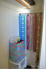 storing wrapping paper gift wrap organization how to organize wrapping paper