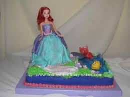 coolest princess ariel birthday cake design birthday cake design