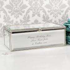 personalised jewelry box personalised mirrored jewellery box buy from prezzybox