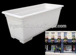 white plastic planter pot small plastic flower pot trays