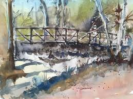 plein air urban sketching using pen and watercolor with gaston