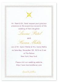 marriage invitation wording india indian wedding invitation card sle simplo co