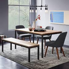 box frame dining table wood west elm