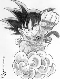 goku dragon ball draw lghost deviantart